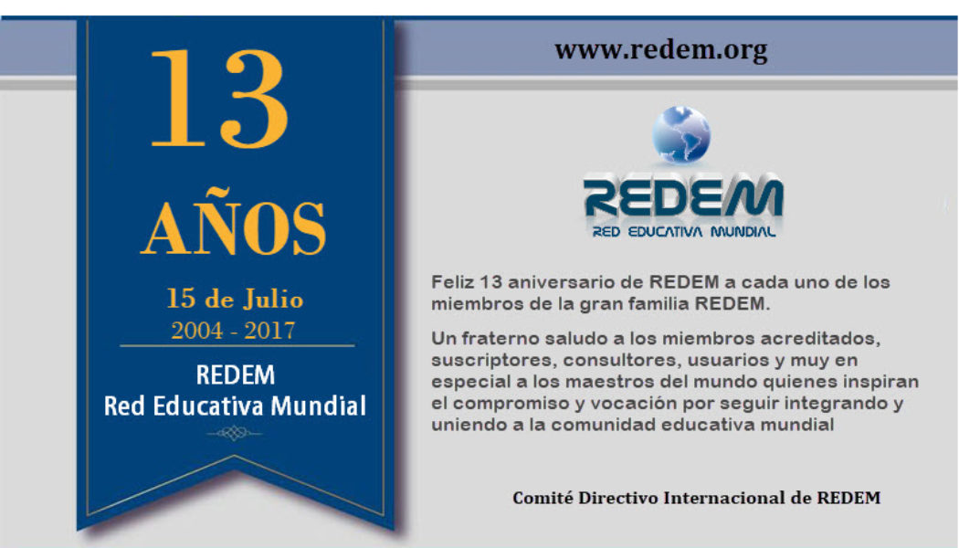 13 Aniversario de la Red Educativa Mundial.